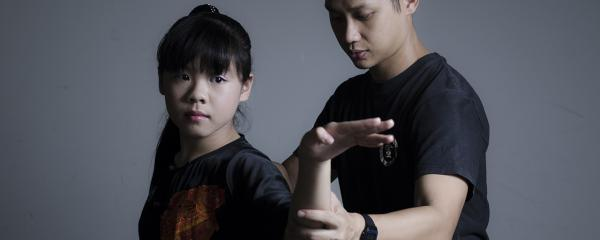 Wushu girl posing