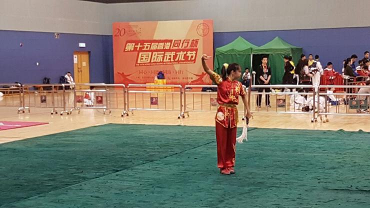 Yin Shuen at the 15th Hong Kong Wushu International Championship