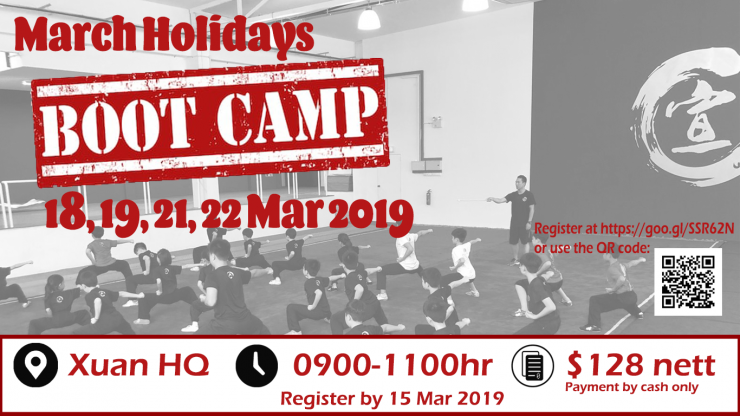 March Holidays Boot Camp 2019 poster