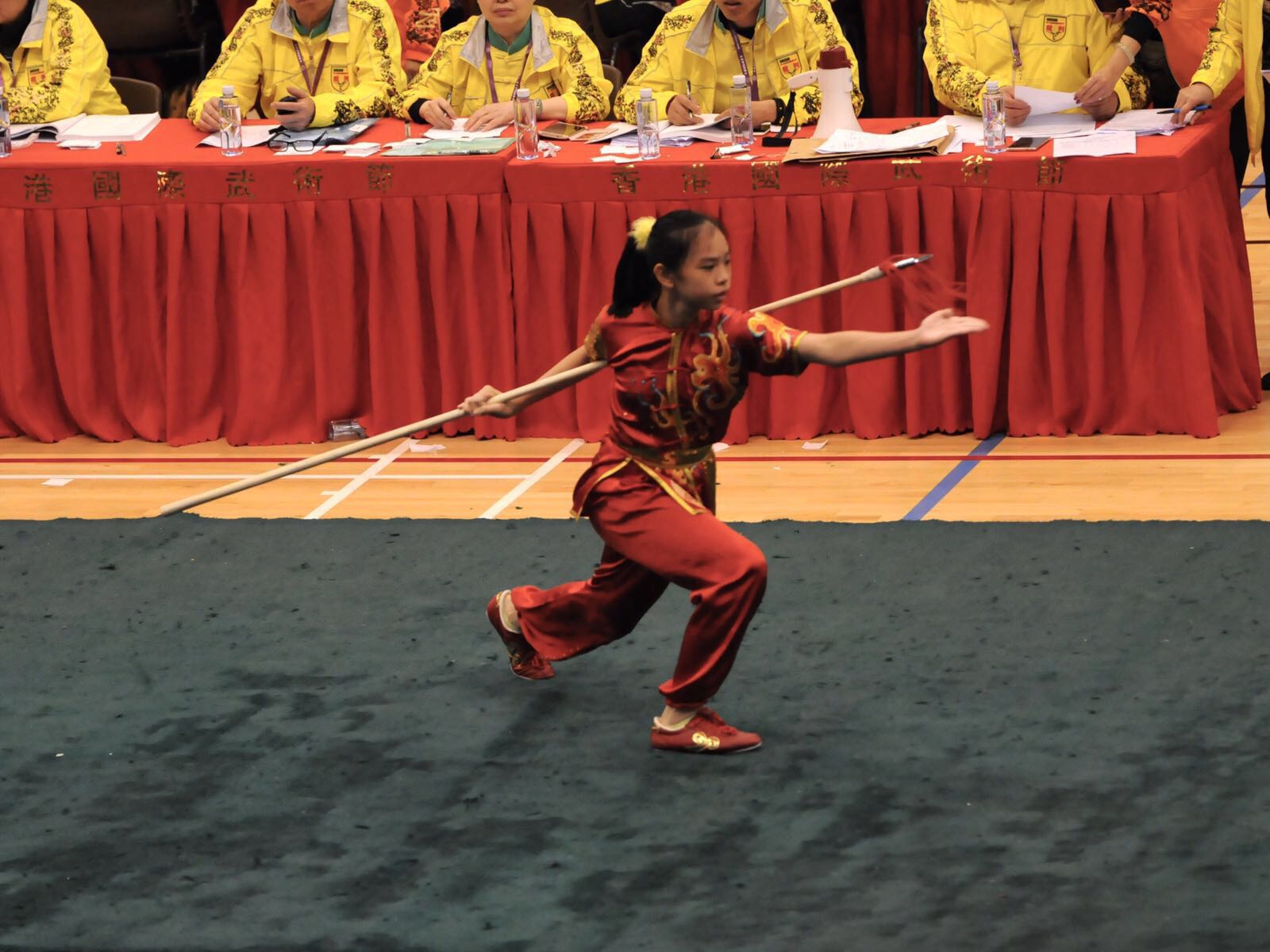Xuan Sports Athlete Le Yin Shuen at the 15th Hong Kong Wushu